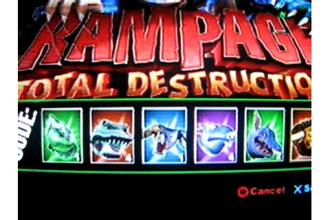 rampage total destruction cheats on ps2 - YouTube