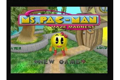 Ms pac-man maze madness PS1 intro and gameplay footage ...