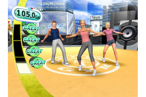Dance screen from Gold's Gym Dance Workout