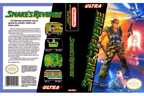it8Bit — NES Box Art: Snake's Revenge Snake's Revenge is a...