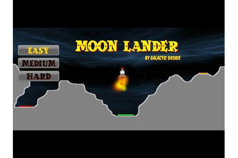 Moon Lander, classic game now for your Android device ...