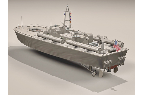 Motor Torpedo Boat PT-109 3d model 3ds Max files free ...
