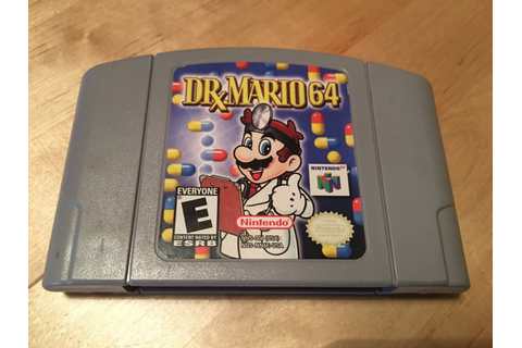 Dr. Mario 64 Nintendo Game Cartridge NES Cleaned and