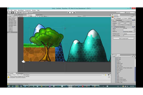 Creating 2D Games in Unity 4.5 #2 - Intro to 2D - YouTube
