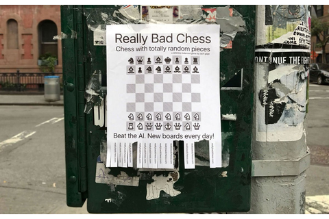 Really Bad Chess is apparently really good