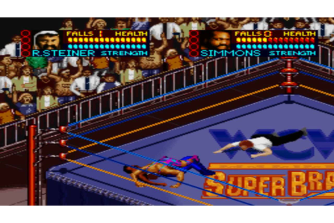WCW Superbrawl SNES: All Finishers in Widescreen HD! - YouTube