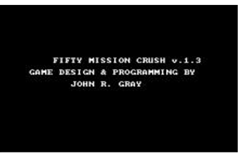 Fifty Mission Crush Download (1986 Simulation Game)