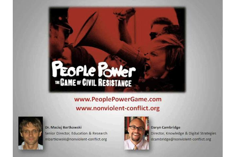 People Power: The Game of Civil Resistance (Webinar) on Vimeo