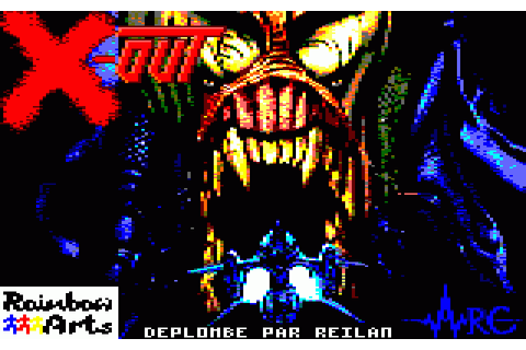 X-Out (1990) by Rainbow Arts Amstrad CPC game
