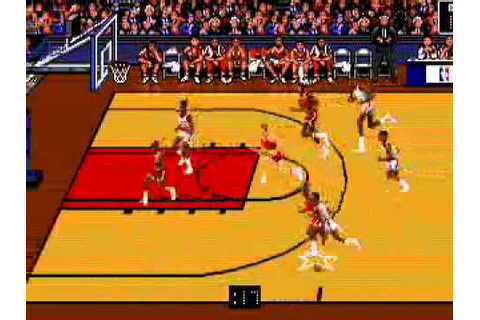 Bulls vs. Blazers and the NBA Playoffs (Genesis)- Gameplay ...