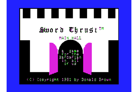 Play Swordthrust Online APPLEII Game Rom - Apple II ...