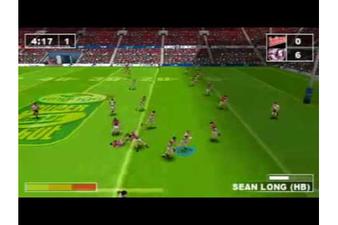 Rugby League Challenge psp - YouTube