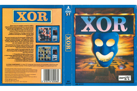 Atari ST XOR : scans, dump, download, screenshots, ads ...