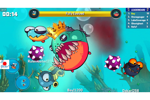 Eatme.io TOP 1 see me how I won the battle in the aquarium ...