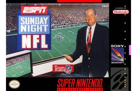 ESPN Sunday Night NFL SNES Super Nintendo