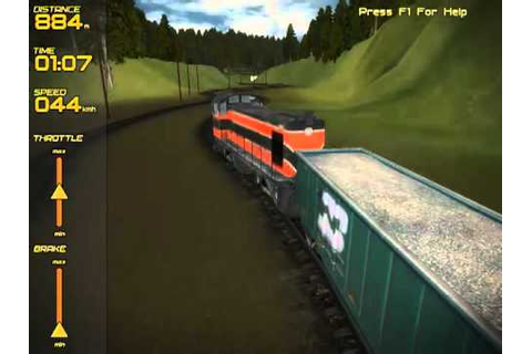 Freight Train Simulator (free indie game) - YouTube