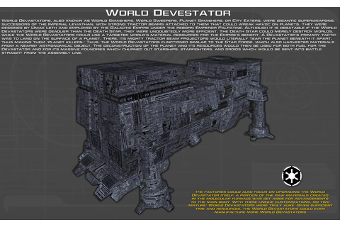 World Devastator tech readout [New] by unusualsuspex on ...