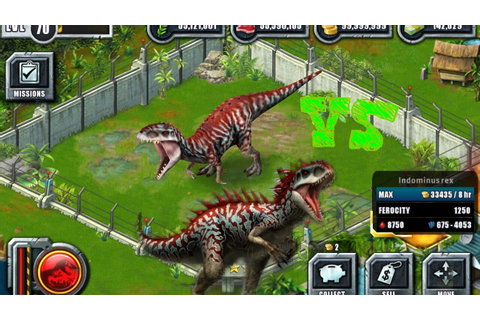 Indominus rex] Jurassic world the game VS Jurassic park ...