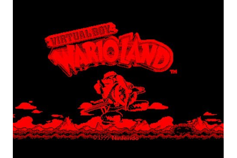 Virtual Boy Longplay [01] Virtual Boy Wario Land (3D ...