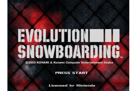 Evolution Snowboarding for Nintendo GameCube - The Video ...