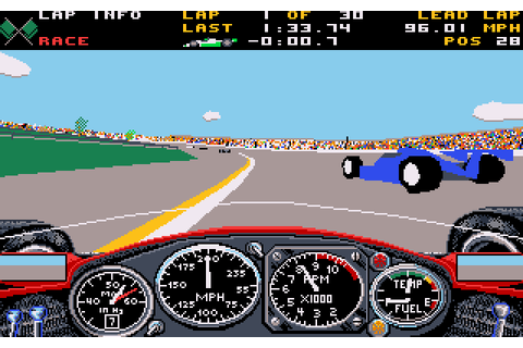 Indianapolis 500: The Simulation (1989) by Papyrus Design ...