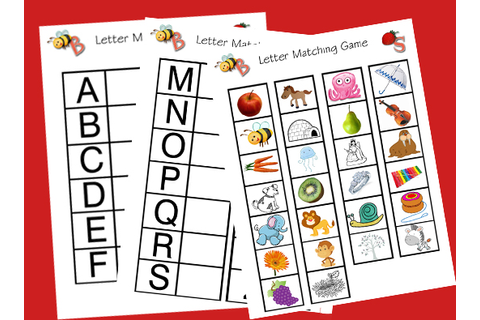 YHWH leads: Homeschool Letter Matching Game Printables
