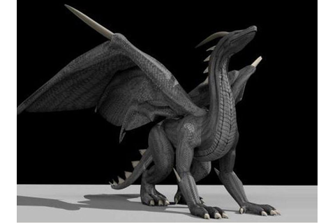 Black Dragon Rigged and Game-Ready (Download) | 3DHaupt