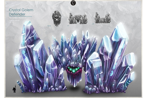 Crystal golem defender by Venen | Elemental Creature ...