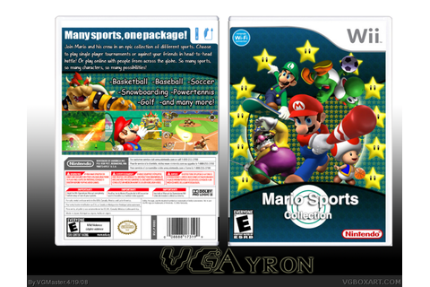 Mario Sports Collection Wii Box Art Cover by VGMaster