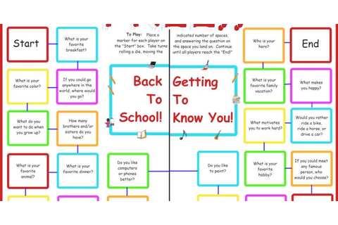 {FREE} Back to School Getting to Know You Game ...
