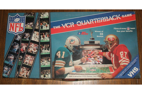 Official NFL Films VCR Interactive Quarterback Game 1986
