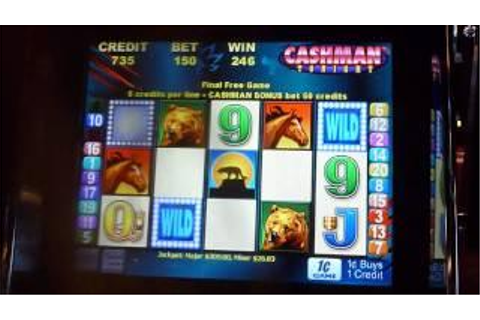 Louie's Gold Mr. Cashman Slot Machine Bonus Win (queenslots)
