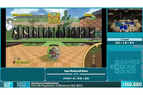 Super Monkey Ball Deluxe by Geoff in 38:19 - Summer Games ...