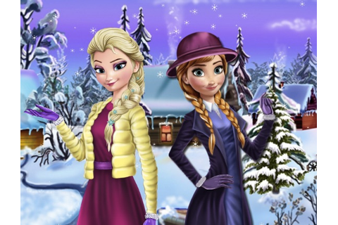 Elsa And Anna Winter Dress Up - Frozen Games