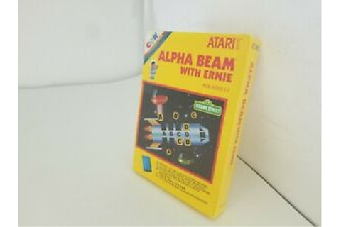 NEW SEALED ALPHA BEAM WITH ERNIE GAME FOR PAL ATARI 2600 ...
