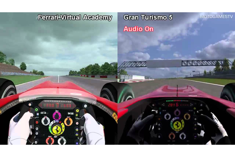 Ferrari Virtual Academy vs Gran Turismo 5 - Ferrari F10 at ...
