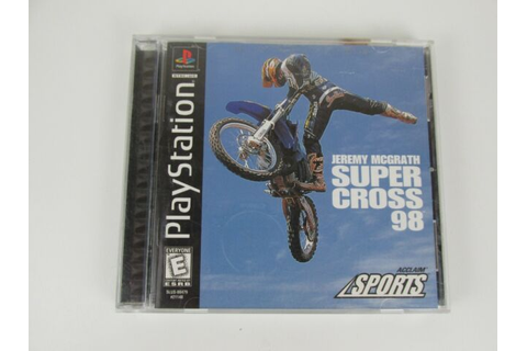 Jeremy McGrath Supercross 98 Playstation PS1 Video Game ...