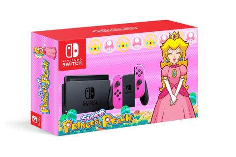 My dad made a Switch design based on Super Princess Peach ...