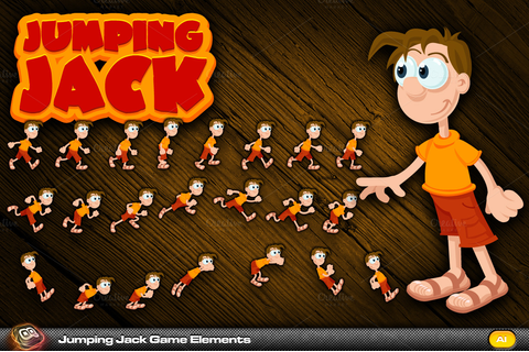 Jumping Jack Game Elements ~ Objects on Creative Market