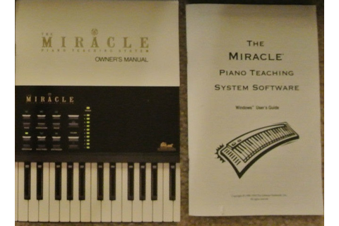 Manual - Miracle Piano Teaching System - Rare Nes Nintendo