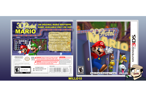 Hotel Mario 3D Nintendo 3DS Box Art Cover by willo10