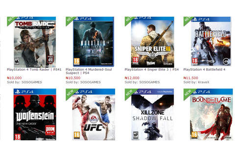 Buy PS3 PS4 Video Games online in Nigeria - Cheap Video ...