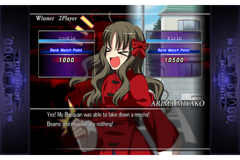 Melty Blood Actress Again Current Code | RPG Site