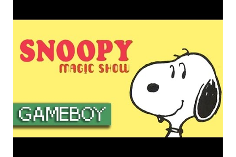 Snoopy: Magic Show (Stage 1-20) - Game Boy - YouTube
