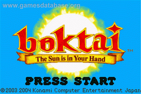 Boktai: The Sun is in Your Hand - Nintendo Game Boy ...
