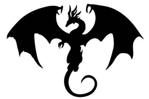 silhouette dragon | Party Time! > Fantasy/ Medieval ...