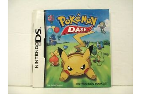 2005 Pokemon Dash Game Manual Only Nintendo DS | eBay