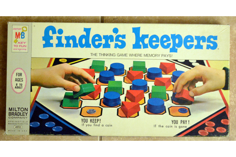 Vintage 1969 Finder's Keepers Board Game by Milton Bradley