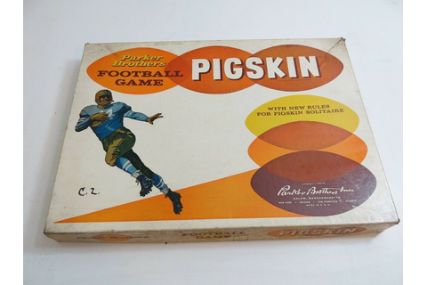 VINTAGE 1960 PARKER BROTHERS PIGSKIN FOOTBALL GAME | eBay