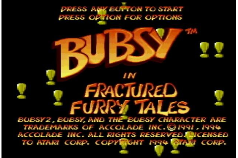Bubsy in Fractured Furry Tales (1994) by Imagitec Design ...